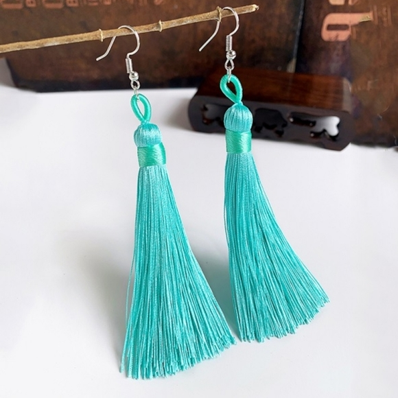 🔥2/$21🔥Turquoise tassel fashion earrings